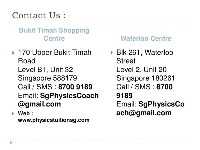 Contact Us :- Bukit Timah Shopping Centre Waterloo Centre  170 Upper Bukit Timah Road Level B1, Unit 32 Singapore 588179 ...