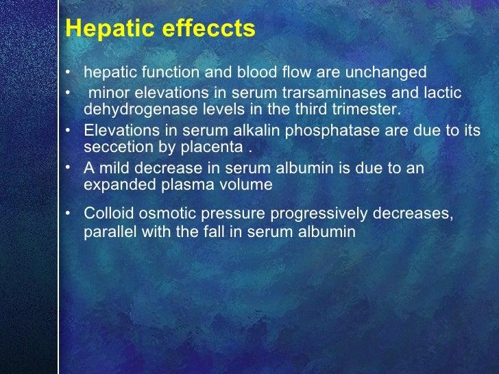 Hepatic effeccts <ul><li>hepatic function and blood flow are unchanged </li></ul><ul><li>minor elevations in serum trarsam...