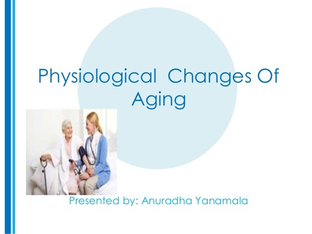Physiological Changes Of Aging Presented by: Anuradha Yanamala