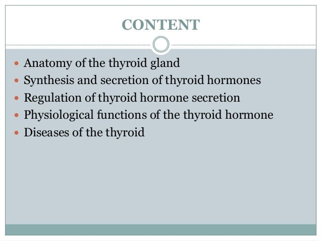 physiology of the thyroid gland, Powerpoint templates