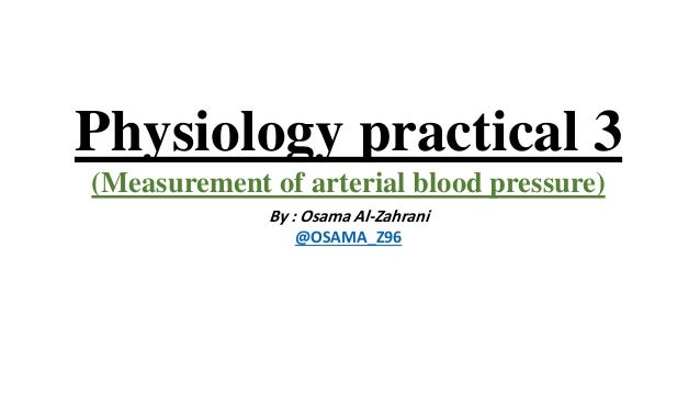 Physiology Measurement Of Arterial Blood Pressure