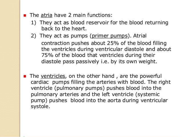  The right ventricle pumps relatively large volumes of blood at a low pressure through the pulmonary circulation (the rig...