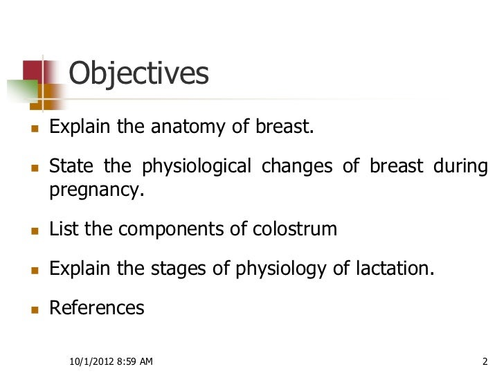 Physiology of lactation Slide 2