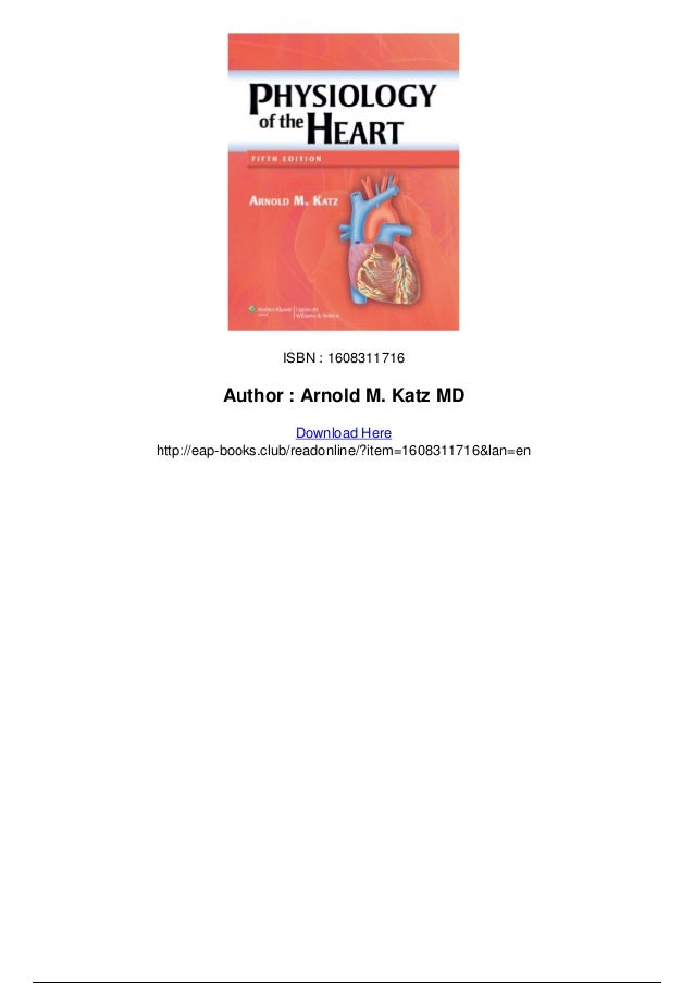 Physiology Of The Heart Katz Pdf