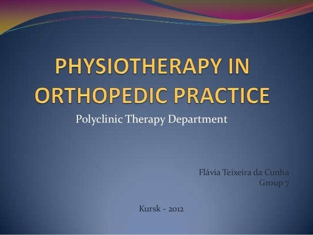Polyclinic Therapy Department                           Flávia Teixeira da Cunha                                          ...