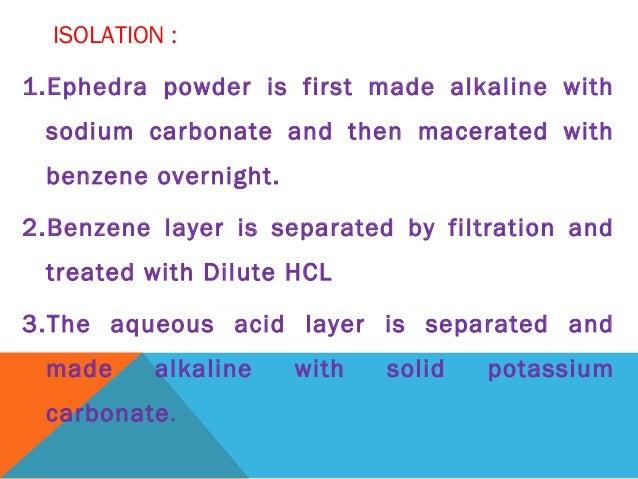 Extract ephidrine from lick blocks