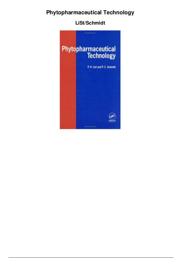 Phytopharmaceutical Technology LiSt/Schmidt