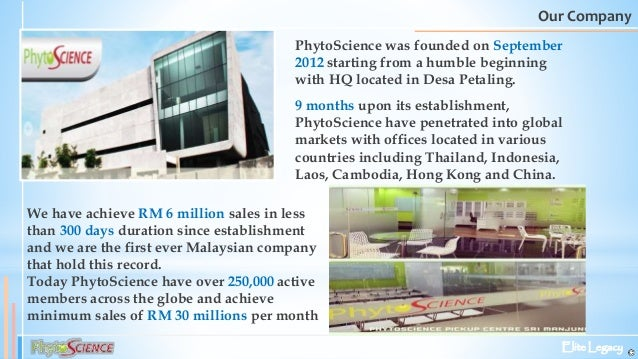 PHYTOSCIENCE BUSINESS OPPORTUNITY….
