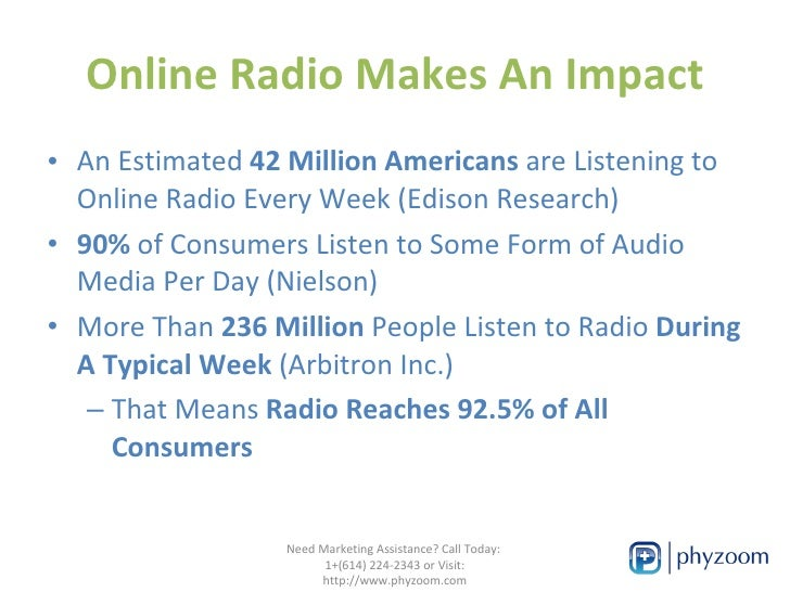 Extend Your Medical Brand with Online Radio Slide 2