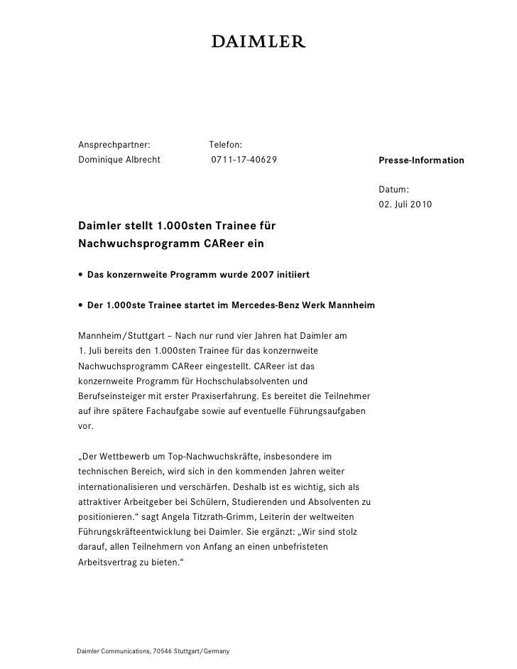 Ansprechpartner:                        Telefon:Dominique Albrecht                      0711-17-40629                     ...
