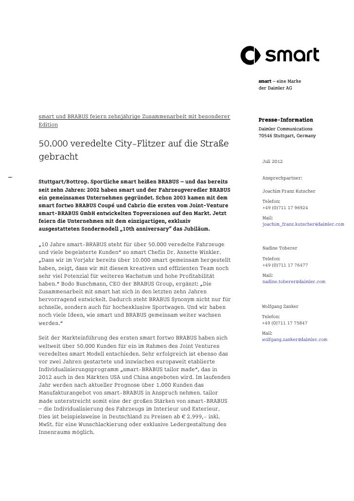 smart – eine Marke                                                                        der Daimler AGsmart und BRABUS f...
