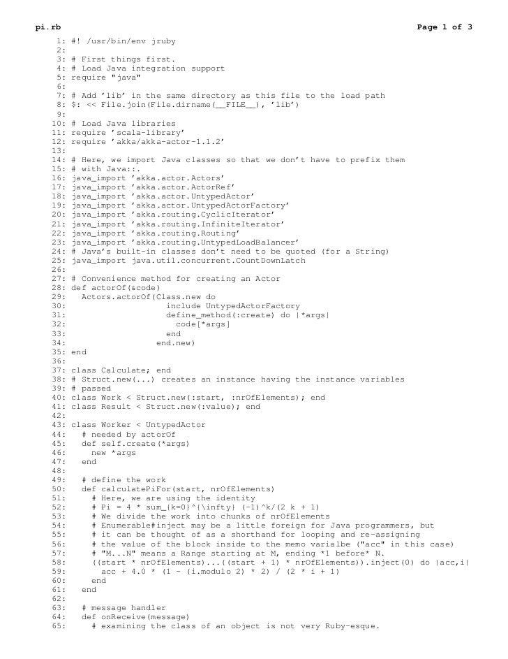 pi.rb                                                                          Page 1 of 3    1:   #! /usr/bin/env jruby  ...