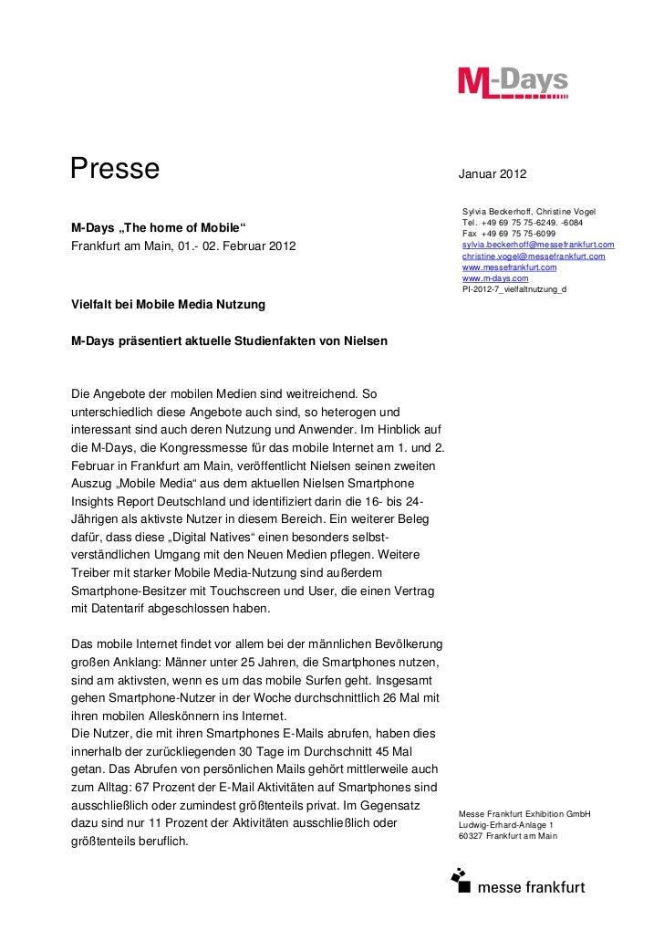 Presse                                                                Januar 2012                                         ...