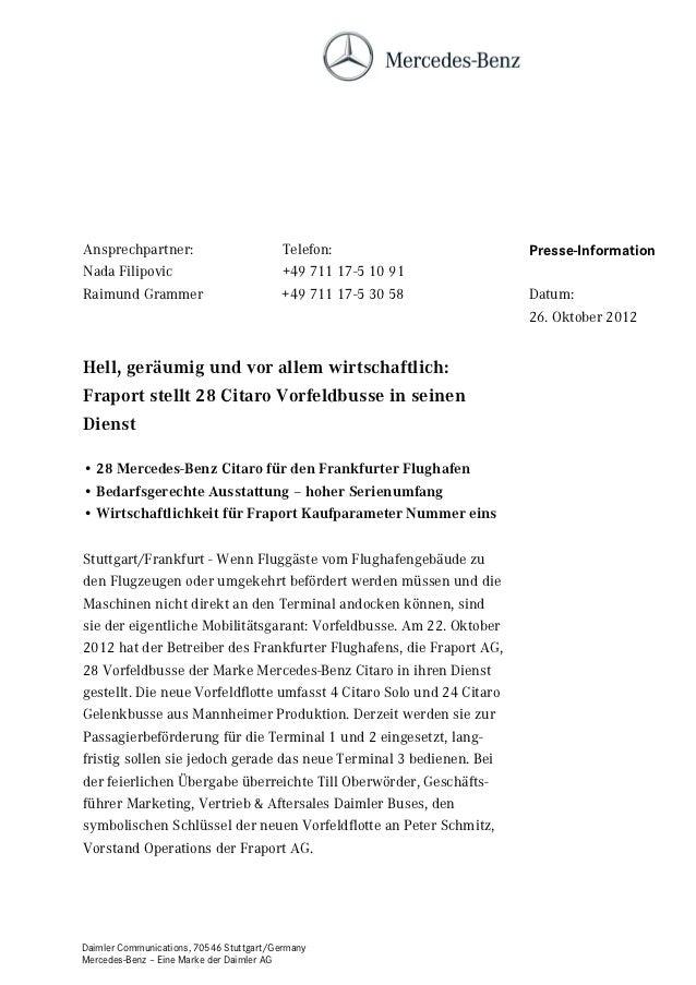 Ansprechpartner:                         Telefon:                      Presse-InformationNada Filipovic                   ...