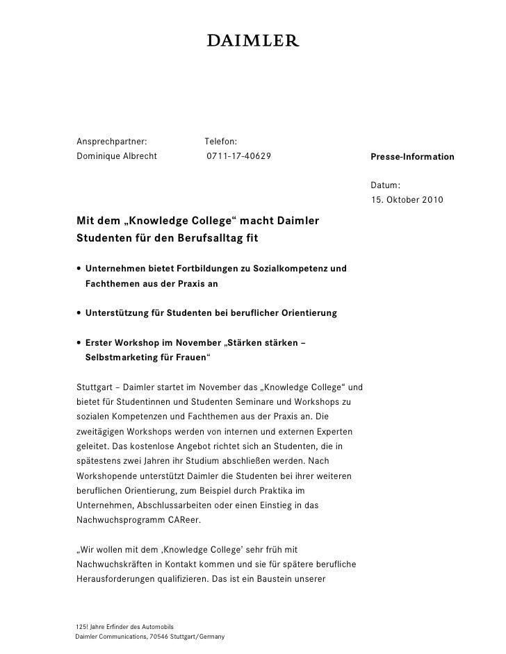 Ansprechpartner:                        Telefon:Dominique Albrecht                      0711-17-40629                 Pres...