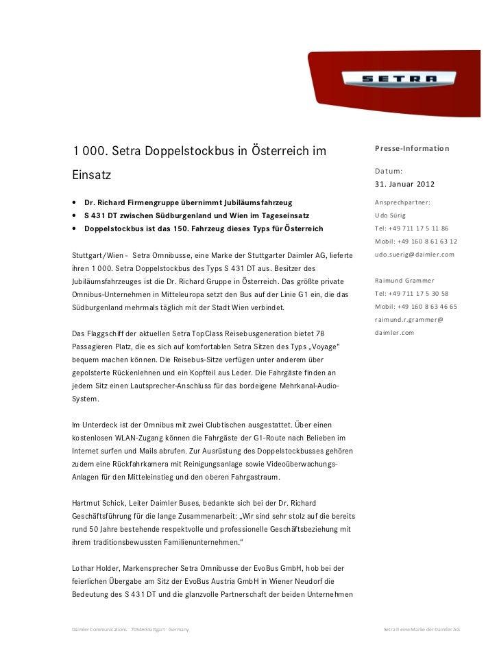 W           /1 000. Setra Doppelstockbus in Österreich im                                                                 ...