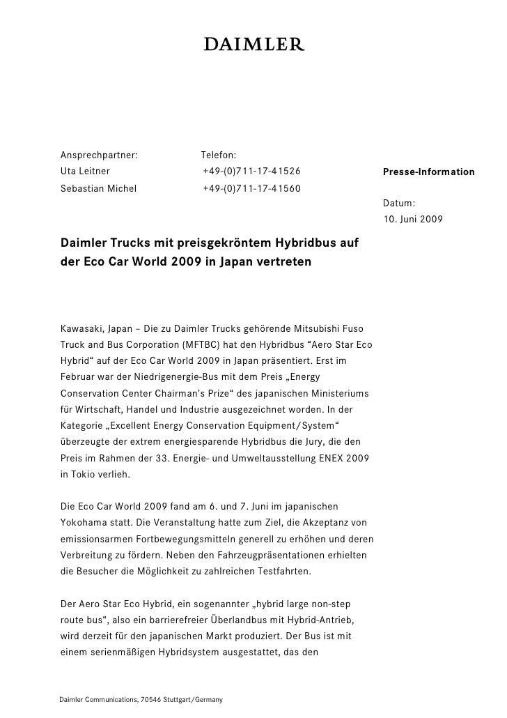 Ansprechpartner:                        Telefon:Uta Leitner                             +49-(0)711-17-41526           Pres...