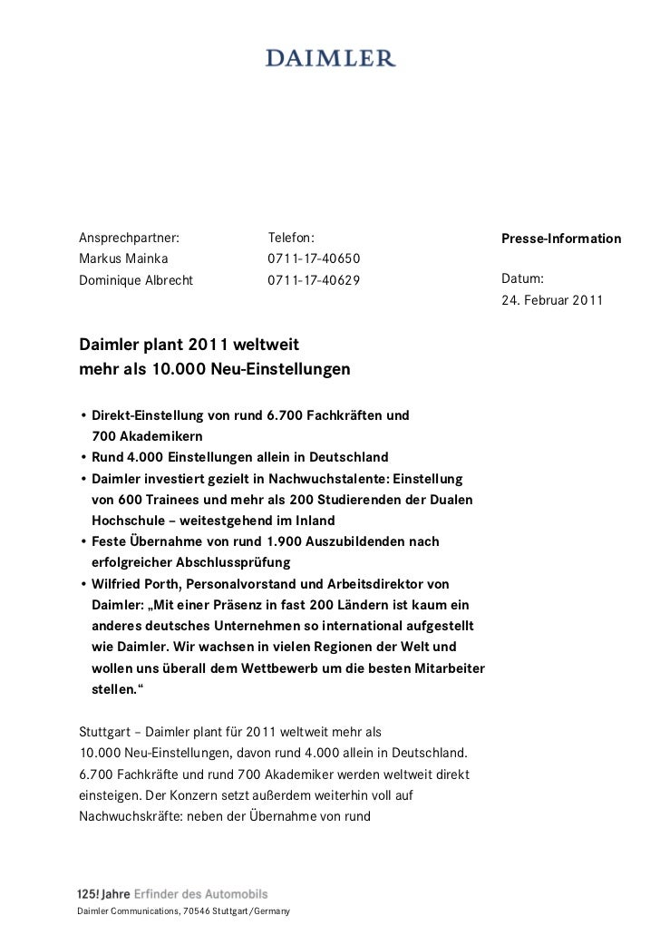 Ansprechpartner:                          Telefon:                  Presse-InformationMarkus Mainka                       ...