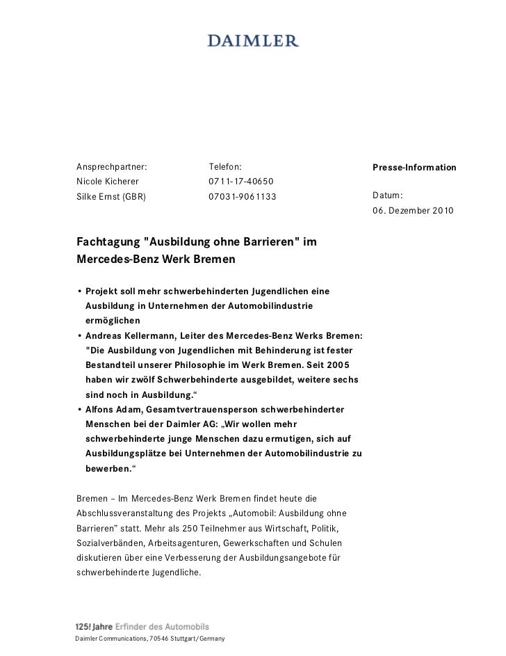 Ansprechpartner:                          Telefon:                   Presse-InformationNicole Kicherer                    ...