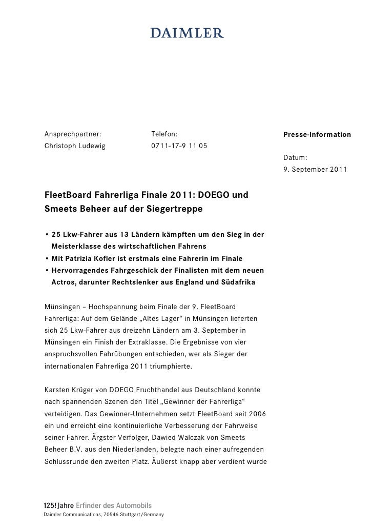 Ansprechpartner:                          Telefon:                  Presse-InformationChristoph Ludewig                   ...