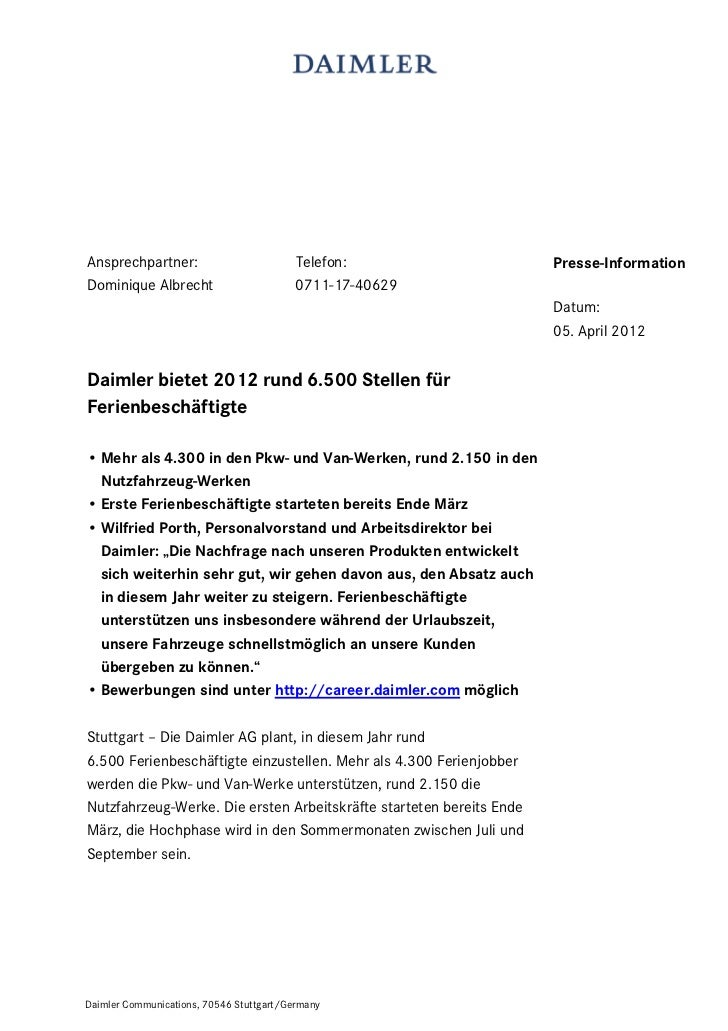 Ansprechpartner:                          Telefon:                    Presse-InformationDominique Albrecht                ...