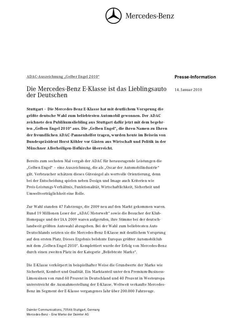 """ADAC-Auszeichnung """"Gelber Engel 2010""""                                            Seite 1                                  ..."""