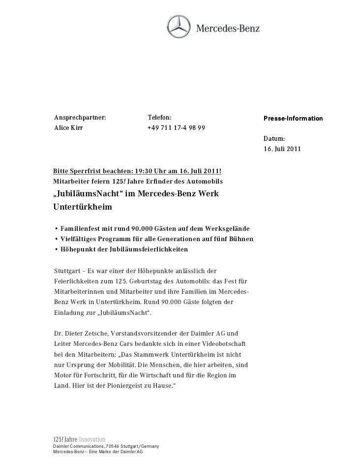 Ansprechpartner:                          Telefon:                  Presse-InformationAlice Kirr                          ...