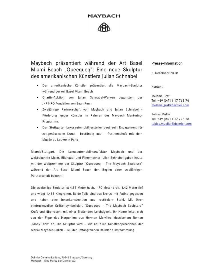 Seite 1Maybach präsentiert während der Art Basel                                         Presse                           ...
