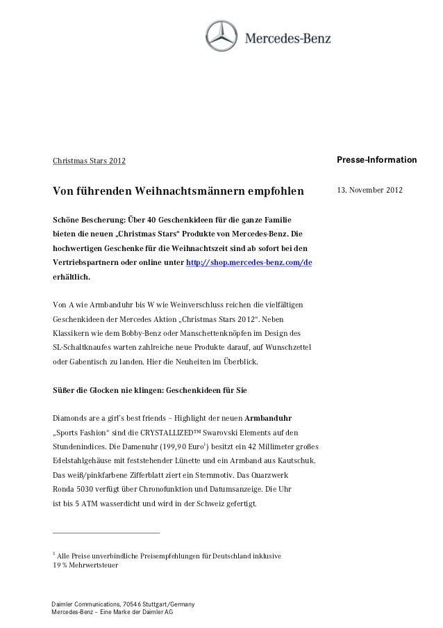 Christmas Stars 2012                                                           Presse-InformationVon führenden Weihnachtsm...
