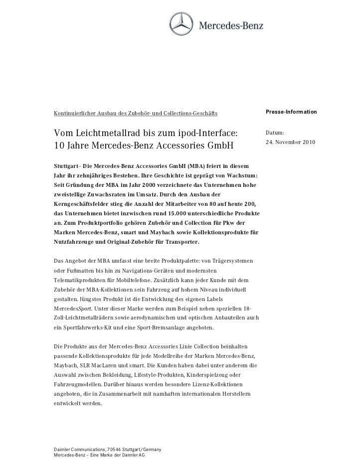 Kontinuierlicher Ausbau des Zubehör- und Collections-Geschäfts                 Presse-InformationVom Leichtmetallrad bis z...