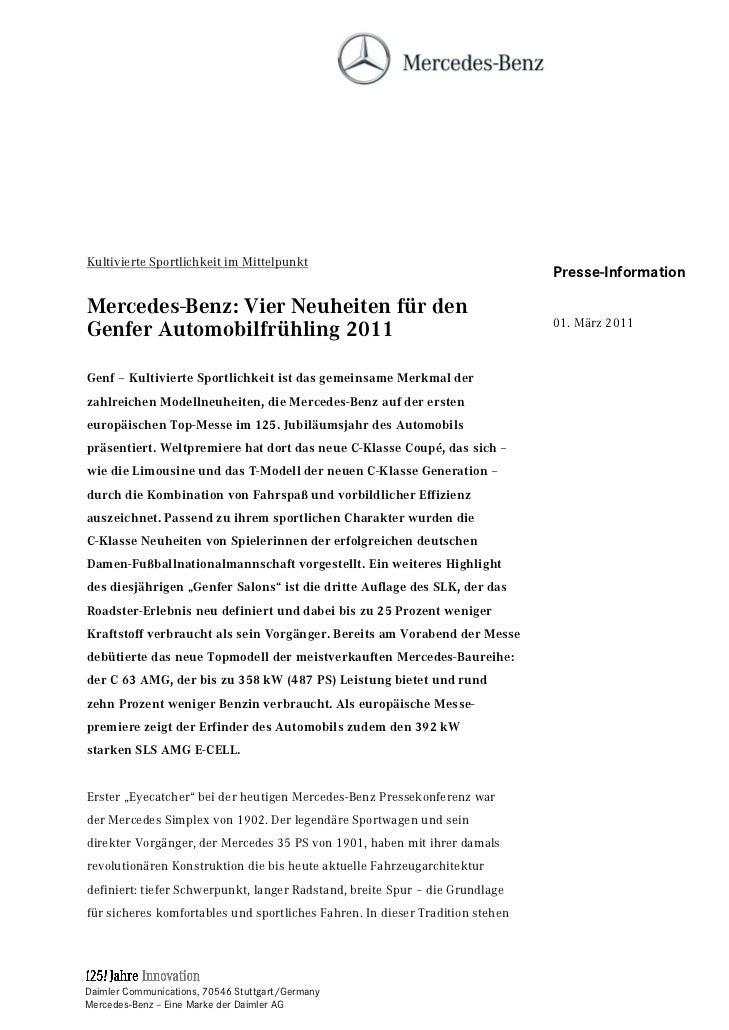 Kultivierte Sportlichkeit im Mittelpunkt                                       Presse-Information                         ...