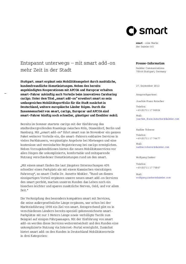 smart – eine Marke                                                                       der Daimler AGEntspannt unterwegs...