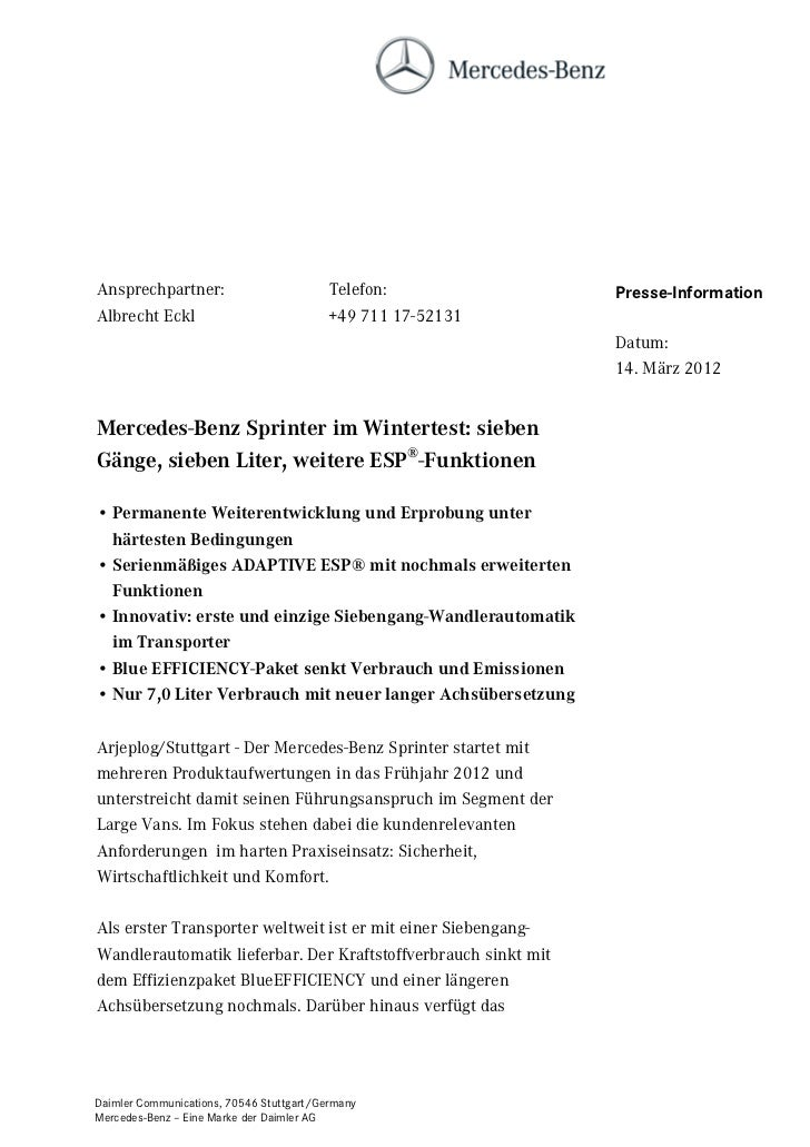 Ansprechpartner:                          Telefon:              Presse-InformationAlbrecht Eckl                           ...