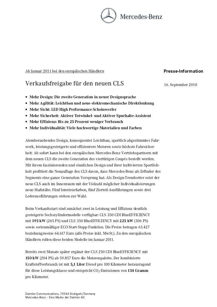 Ab Januar 2011 bei den europäischen Händlern                                        Presse-InformationVerkaufsfreigabe für...