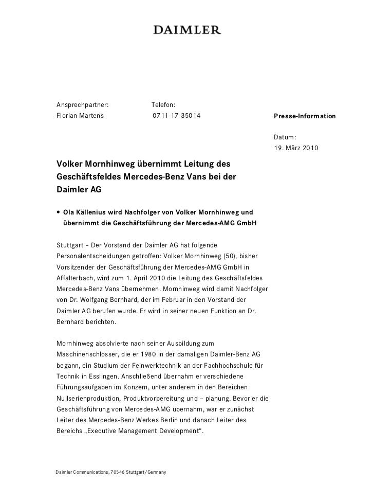 Ansprechpartner:                        Telefon:Florian Martens                         0711-17-35014                   Pr...