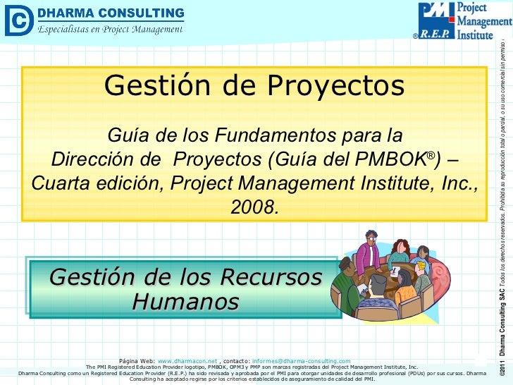 Guía del PMBOK® > Gestión de los Recursos Humanos