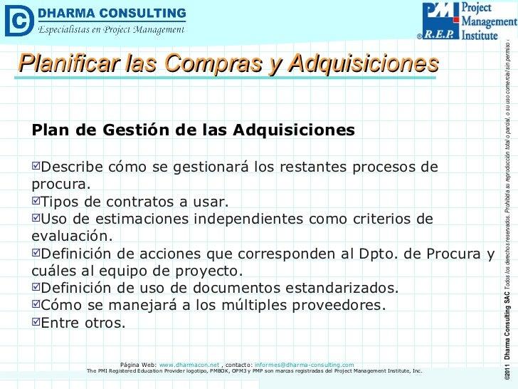Guía del PMBOK® > Gestión de las Adquisiciones