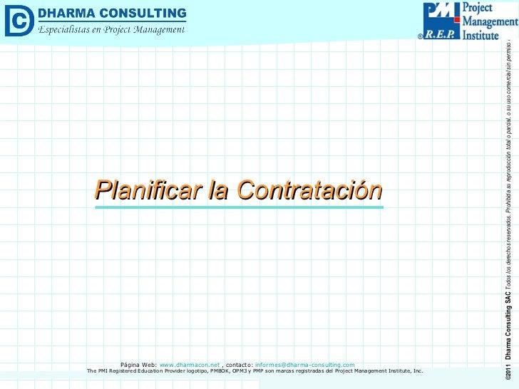 Planificar la Contratación