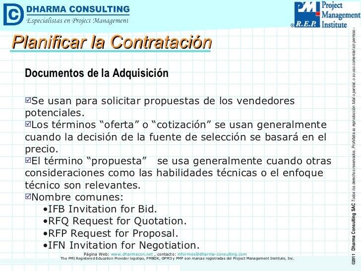 <ul><li>Documentos de la Adquisición </li></ul><ul><li>Se usan para solicitar propuestas de los vendedores potenciales. </...