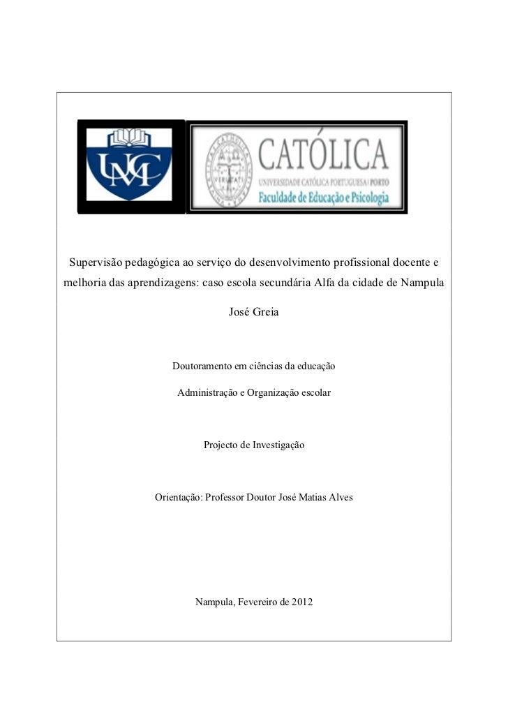 Supervisão pedagógica ao serviço do desenvolvimento profissional docente emelhoria das aprendizagens: caso escola secundár...