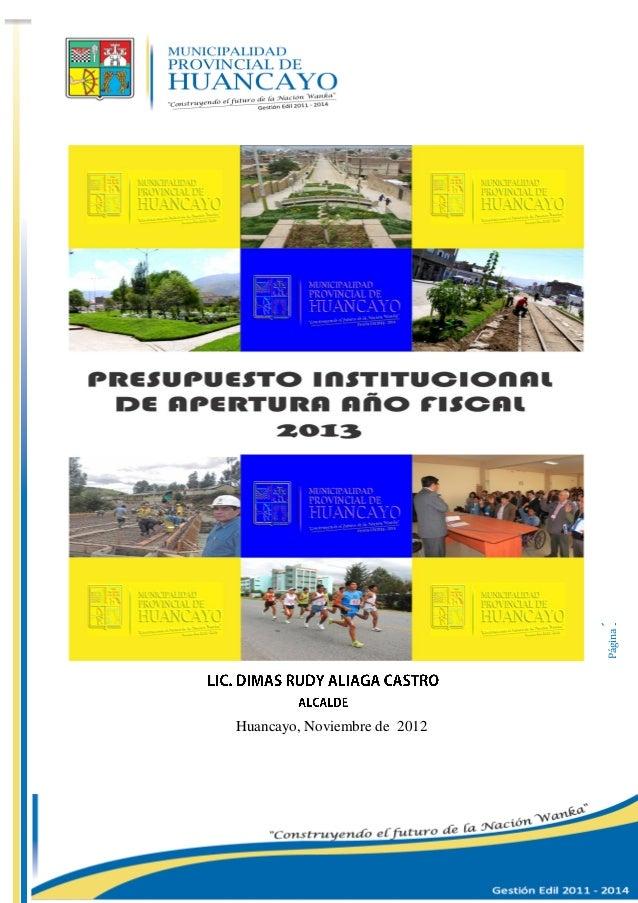 Página1 Huancayo, Noviembre de 2012