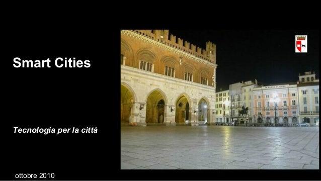Smart Cities Tecnologia per la città ottobre 2010