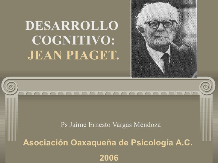 DESARROLLO  COGNITIVO: JEAN PIAGET. Ps Jaime Ernesto Vargas Mendoza Asociación Oaxaqueña de Psicología A.C.  2006
