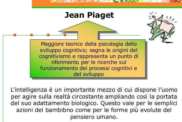 Jean Piaget L'intelligenza è un importante mezzo di cui dispone l'uomo per agire sulla realtà circostante ampliando così l...