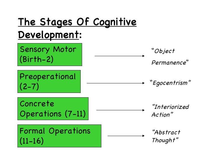 Piaget and cognitive development for 4 stages of motor development