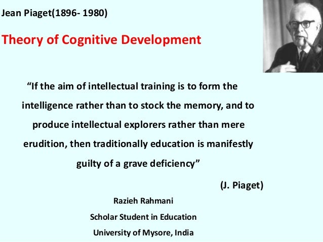 jean piaget s cognitive theory How can we as adults help children to achieve their potential how can we aid them to learn well first we need to understand how they learn, and the swiss scientist and development psychologist, jean piaget, who died in 1980, gave the world insights into the cognitive development of children identifying that what we as adults might just refer.