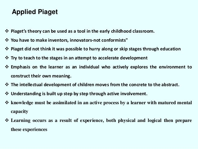 Piaget cognitive development theory