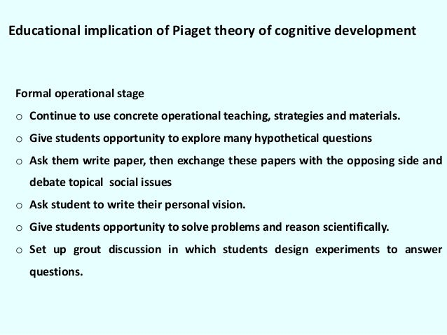 a discussion of the ideas of piagets theory of cognitive development Read this essay on cognitive development: comparing the main ideas of piaget and vygotsky come browse our large digital warehouse of free sample essays get the knowledge you need in order.