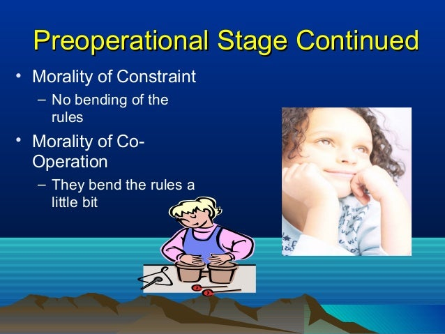preoperational stage observation Conservation refers to a logical thinking ability which, according to the psychologist jean piaget, is not present in children during the preoperational stage of their development at ages 2–7, but develops in the concrete operational stage at ages 7–11.