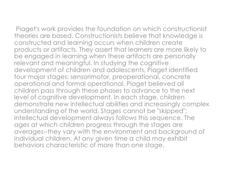piaget observation Piaget observed, assessing the impact of piaget on develop- mental psychology is like assessing the impact of shakespeare on english literature, or aristotle in philosophy—impossible (beilin, 1992a, p 191) understandably, then, piaget's theory has been the preferred target of many critics considered collec- tively.
